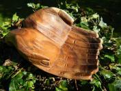 Wooden Hand Bowl Carved Begging Hands Trinket Key Loose Change Coins Bowl