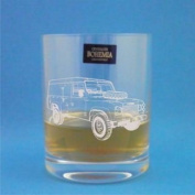 Bohemia Crystal Whisky Glass With Series 3 Classic Landrover Design with presentation box- Includes Engraving up to 30 Characters