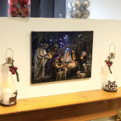 Nativity Scene Canvas with Light up LED bulbs