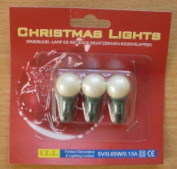 Pack of 3 Pearl Push in Spare Bulbs for Berry Lights 5v 0.65w 0.13a