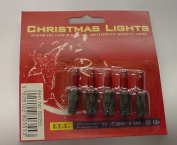 Pack of 5 Push In Spare Fairy Bulbs In Red with Green Base 7v 0.98w 0.14a
