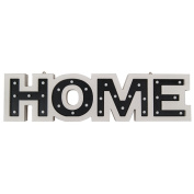 """""""HOME"""" LED Cream Wood Marquee Light"""