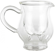 SMO Cute Calf and Half Creamer Milk Double Wall Glass Cup, Transparent