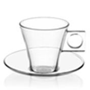 Nescafé Dolce Gusto Espresso Glass, with Saucer, Pack of 2