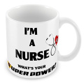 'I am a nurse, what is your superpower.' Unique Design Novelty Gift Mug - Ideal Gift for Christmas Nurses health care staff
