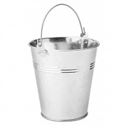 Galvanised Steel Serving Bucket 12cm - x 6 - Mini Bucket, Chip Bucket, Presentation Bucket