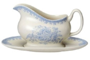 BURLEIGH ASIATIC GRAVY BOAT & STAND