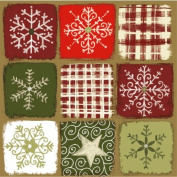 "Christmas napkins ""Magic Stars - Red/Green"" - 33 x 33cm - 3 ply - Pack of 20"
