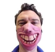 Big Teeth Latex Mask Movie FX Quality Fancy Dress Masquerade