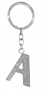 BB Accessories Diamante Alphabet Letter Keyring - A