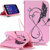 Galaxy Core Prime G360 Case,NSSTAR Beautiful Painted Pattern Flip PU Leather Fold Wallet Pouch Case Premium Leather Wallet Flip Case with Stand Credit Card ID Holders Case Cover for SAMSUNG GALAXY Core Prime G360F /G360H