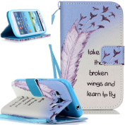 Samsung Galaxy S3 Mini Case,NSSTAR Beautiful Painted Pattern Flip PU Leather Fold Wallet Pouch Case Premium Leather Wallet Flip Case with Stand Credit Card ID Holders Case Cover for SAMSUNG GALAXY S3 III MINI i8190