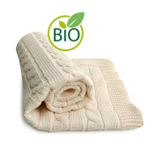 SonnenStrick 100% Organic Cotton Baby Blanket (Plait) Made in Germany