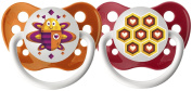 Ulubulu Pacifiers for Unisex, Bee and Honeycomb, 0-6 months