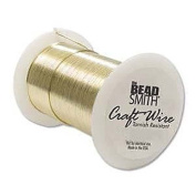 18 Gauge 30 Feet Bright Gold Craft Wire Non Tarnish 9.1 Metres Wrapping Craft