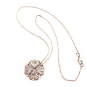 2 PCS Fashion Jewellery Necklace Long Chain Pendent Sweater Collar Bib Choker Collier Colourful Rhinestones Lucky Clover