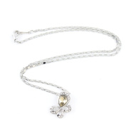 2 PCS Fashion Jewellery Necklace Long Chain Pendent Sweater Collar Bib Choker Collier Champagne Rhinestones Butterfly