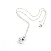 2 PCS Fashion Jewellery Necklace Long Chain Pendent Sweater Collar Bib Choker Collier Red Rhinestones Butterfly