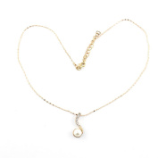 2 PCS Fashion Jewellery Necklace Long Chain Pendent Sweater Collar Bib Choker Collier Faux Pearl Music Note Symbol