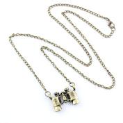 2 PCS Fashion Jewellery Necklace Long Chain Pendent Sweater Collar Bib Choker Collier Bronze Telescope