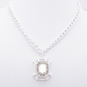 2 PCS Fashion Jewellery Necklace Long Chain Pendent Sweater Collar Bib Choker Collier Crystal White Rhinestone
