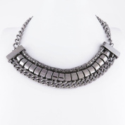 1 PCS Fashion Jewellery Necklace Long Chain Pendent Sweater Collar Bib Choker Collier Silver Chain