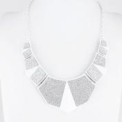 1 PCS Fashion Jewellery Necklace Long Chain Pendent Sweater Collar Bib Choker Collier Silver Geometry