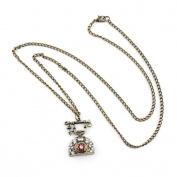 1 PCS Fashion Jewellery Necklace Long Chain Pendent Sweater Collar Bib Choker Collier Bronze Classic Telephone