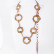 1 PCS Fashion Jewellery Necklace Long Chain Pendent Sweater Collar Bib Choker Collier Seven Circle
