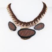 1 PCS Fashion Jewellery Necklace Long Chain Pendent Sweater Collar Bib Choker Collier Three Wood