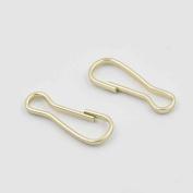 "100 PCS 3/4"" 20mm Purse Zipper Pulis Snap Spring Hook Lanyard Zipper pull Gold"