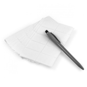 510 Self-Adhesive 2.5cm - 1.3cm Rounded Rectangle White Price Labels with Pen