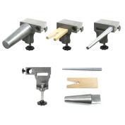 Bench Anvil Combo Kit - Round Bracelet and Ring Mandrels, Anvil, V Slot Bench Pin - SFC Tools - 13-134