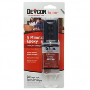 Devcon 2-Part Epoxy, Resaealable Syringe with Mixing Tray and Stick, 0.84 Fluid Ounces