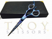 14cm Professional Barber Razor Edge Gold Titanium Coated Hair Cutting Shears Scissors +Case