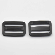 "50 Pcs 1.5"" 38mm Adjustor Triglides Slides for Buckles Leather strap Belt Webbing Black"