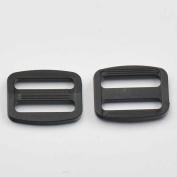 """100 Pcs 1"""" 25mm Adjustor Triglides Slides for Buckles Leather strap Belt Webbing Black"""