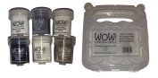 WOW! Embossing Powder 6-Pack Starter Kit and Clear Carrying Case - Bundle of 2 items