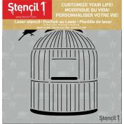 Stencil1 15cm x 15cm Stencil-Birdcage