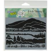 Crafter's Workshop Template 15cm x 15cm -Mountain View