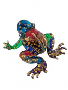 TINY CRYSTAL FROG HAND BLOWN CLEAR GLASS ART FROG FIGURINE ANIMALS COLLECTION GLASS BLOWN