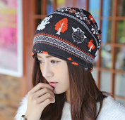 Hot ! Women Winter Hat 2016 New Animal Print Cotton Women Hat