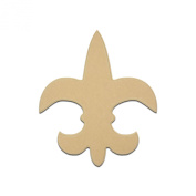 30cm Fleur De Lis SaintUnfinished DIY Wooden Craft Cutout to Sell Stacked