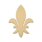 60cm Fleur De Lis State Unfinished DIY Wooden Craft Cutout to Sell Stacked