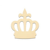 30cm x 28cm Royal Crown Unfinished DIY Wooden Craft Cutout to Sell Stacked