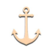 80cm Ship's Anchor Unfinished DIY Wooden Craft Cutout to Sell Stacked