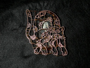 Cat Creeping Handmade Indonesian Copper Tjap