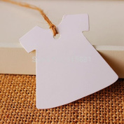 500 Pieces White Creative Dress Design Blank DIY Hang tag ,Retro White Gift tag ,Paper Label Cards
