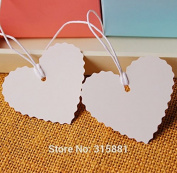 500 Pieces White Blank Heart Paper hang Tags, jewellery Paper Tags, gift paper tags