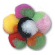 Twin Coloured Pom Poms 25mm